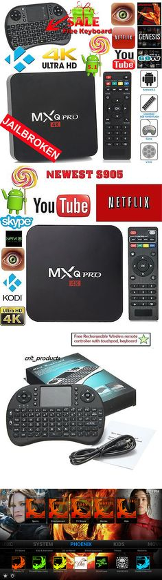Other TV Video and Home Audio: Mxq Pro 4K S905x Smart Tv Box Quad Core Android 6.0 Kodi Hdmi 8Gb Wifi Keyboard -> BUY IT NOW ONLY: $46.99 on eBay!