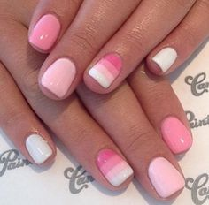 Image via Butter London Rosie Lee - 27 Ideas For Awesome Accent Nails Image via Spring and Summer Wedding Nails Image via Best Pink Nail Art Desig Fancy Nails, Love Nails, Pretty Nails, My Nails, Fall Nail Art Designs, Pink Nail Designs, Gel Polish Designs, Pink Nail Art, Pink Nails
