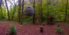 Tree tent in Cornwall, middle of he forest