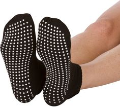 2X Yoga Sock Pilates Ballet Exercise Grips Socks Non Slip Skid For Women Girls J