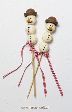 Süsse Schneemänner aus Raffaellokugeln                                                                                                                                                                                 Mehr