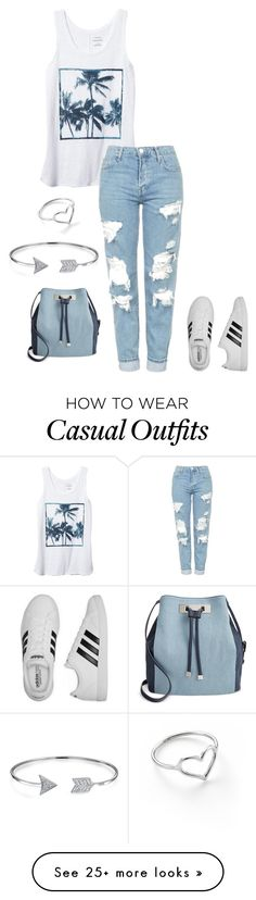 """casual"" by xoxogosipgirlxoxo on Polyvore featuring Banana Republic, Topshop, adidas, INC International Concepts, Jordan Askill and Bling Jewelry"