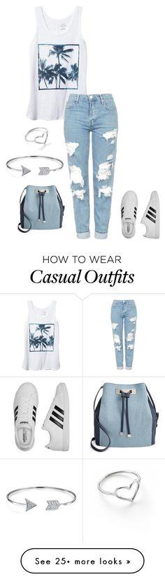"""casual"" by xoxogosipgirlxoxo on Polyvore featuring Banana Republic, Topshop, adidas, INC International Concepts, Jordan Askill and Bling Jewelry"