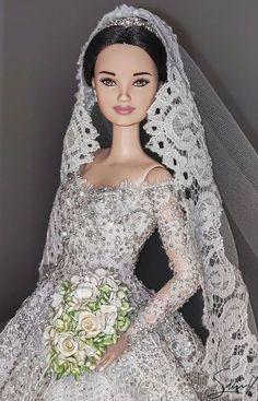 Barbie Wedding Dress, Wedding Dresses, Bride Dolls, Fashion Dolls, Wedding, Wedding Bride, Bride Dresses, Bridal Gowns