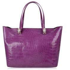Roberto Cavalli Textured Shopper Tote Bag (€97) ❤ liked on Polyvore featuring bags, handbags, tote bags, purple, leather zip tote, leather tote, purple leather tote, purple leather handbag and handbags totes