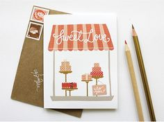 Kate & Birdie buffet card idea menu art