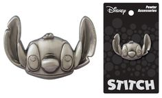 Add some flair to your backpack or jacket with these officially licensed Pewter Pins from Monogram International. This real-metal pin features Stitch from the hit Disney movie, Lilo & Stitch. Official