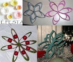 Resultado de imagem para como fazer flores com rolos de papel higienico