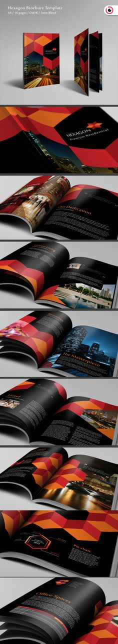 Brand Identity | Corporate Identity | Graphic Design | Hexagon Brochure 16 Pages