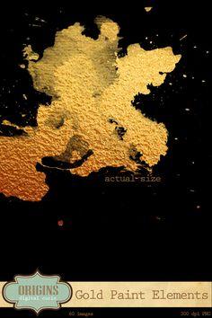 love this gold splatter
