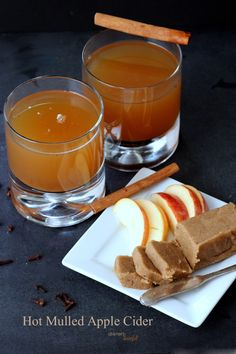 Hot Mulled Apple Cider with a shot of Rum. Warm up your nights. from #DietersDownfall