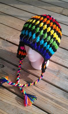 Rainbow Puff  Stitch Beanie V1 by EternalLightShop on Etsy, $18.00