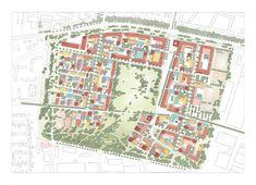 Bayernkaserne München 2014 Rang 4: Schellenberg + Bäumler Architekten, Dresden; Adler & Olesch Landschaftsarchitekten, Nürnberg