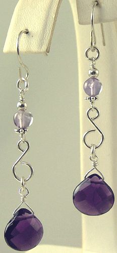 Beaded Earrings - Semi Precious, Gemstone Chandelier Earrings - Kiwi Jewels