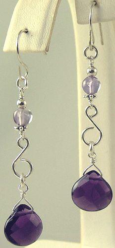 Beaded Earrings - Semi Precious, Gemstone Chandelier Earrings - Kiwi Jewels