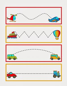 Great to practice pre-writing skills during transportation week. Put this in your handwriting center to reinforce the theme. Preschool Writing, Preschool Themes, Preschool Printables, Preschool Worksheets, Preschool Learning, Preschool Activities, Shapes Worksheets, Teaching, Preschool Art