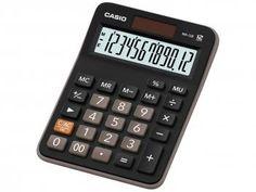 Calculadora de Mesa Casio MX-12B-S4-DC - Dupla Alimentação e Teclado com Memoria