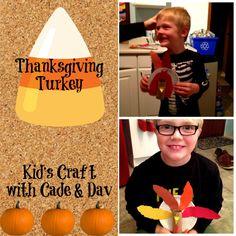Thanksgiving turkey easy place card craft Les dindons pour la table - l'action de graces