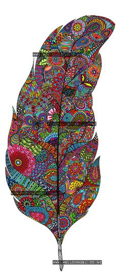 Finished Feather by Hello Angel Design, via Flickr
