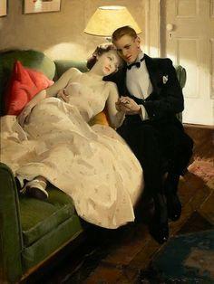 ~ Charles Edward Chambers ~ American artist, 1883-1941: Romantic Interlude