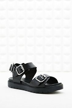 90's Grunge Out From Under Becca Buckle Footbed Sandals
