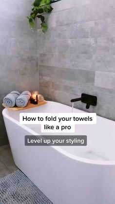 Amazing Life Hacks, Simple Life Hacks, Useful Life Hacks, Diy Crafts Hacks, Diy Home Crafts, Diys, 1000 Lifehacks, How To Fold Towels, Folding Bath Towels