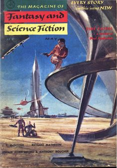 The Magazine of Fantasy and Science Fiction (May 1955), cover by Stanley Meltzoff