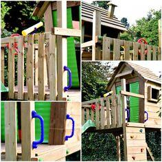 Wie baut man einen Spielturm auf?   lillesol & pelle Schnittmuster, Ebooks, Nähen Park, Treehouse, Sewing Patterns, Tutorials, Parks
