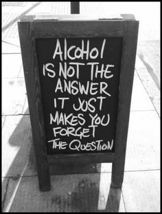 Q and A with alcohol