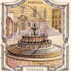 Italian stamp, Perugia www.alidifirenze.fr