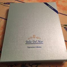 Set of Jewerly Never wear, necklace earrings bracelet ocean-coral theme in elegant box. Bella del mar Accessories