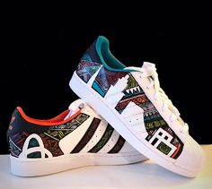 Custom Sneakers, Custom Shoes, Adidas Originals, Adidas Men, Adidas Sneakers, Adidas Superstar, Kicks, Mens Fashion, Comme
