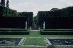 grădina cu labirint din spatele căminului, preferată de aden în după-amiezile convalescente și cenușii