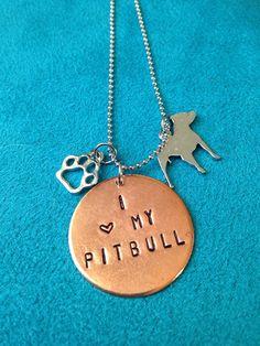 I Love My Pitbull by JEMJewelryDesign on Etsy