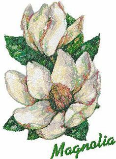 Advanced Embroidery Designs - Trees in Blossom Series: Magnolia