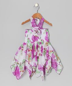 Another great find on Purple Floral Chiffon Handkerchief Dress - Toddler & Girls by Lele for Kids Handkerchief Crafts, Handkerchief Dress, Toddler Girl Dresses, Toddler Girls, All Things Purple, Purple Lace, Floral Chiffon, Girly Girl, Lace Dress
