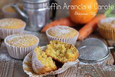 Muffin Arancia e Carota .. ricetta facile,dolci per la colazione,muffin per la merenda,ricette con la frutta,dolcetti monoporzione. Adoro tutti i tipi di M