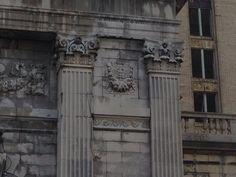 Michigan Central Station, Detroit - exterior detail - Caduceus