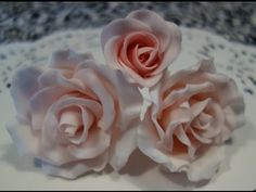 HOW TO MAKE FONDANT ROSES FOR CAKES - YouTube