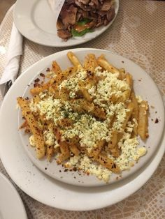 Greek fries - feta, olive oil and oregano