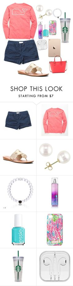 """""""Spring"""" by haileycarr23 ❤ liked on Polyvore featuring Vineyard Vines, Jack Rogers, Miadora, Essie, Lilly Pulitzer, Kate Spade, women's clothing, women, female and woman"""