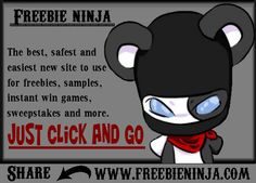 Check it freebienina.com for freebies, instant win games, sweepstakes and more