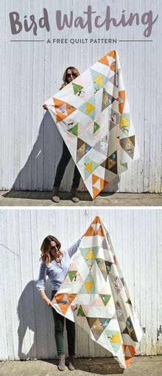 Free Modern Quilt pattern inspired by Charley Harper!