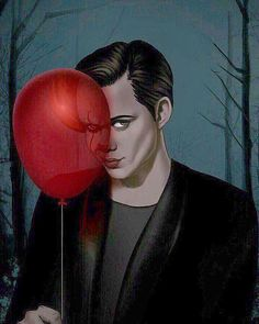 """""""Come float with me. art by Scary Movies, Horror Movies, Good Movies, Bill Skarsgard Pennywise, Spirit Fanfics, Le Clown, Pennywise The Dancing Clown, Hemlock Grove, Horror Icons"""
