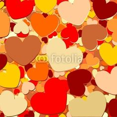 Hearts Background-Vector © bluedarkat
