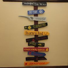 Seven Kingdoms of Westeros Directional Sign Full by CurioObscurio, $175.00