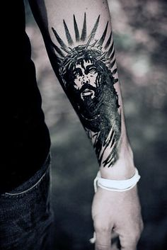 Jesus Forearm Tattoo Sleeve