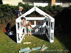 Petite maison pour les enfants en palettes 4
