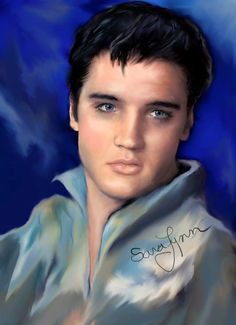 """Incredible art by lovely Sara Lynn    """"CHECK OUT HIS CHICKEN POX SCAR OVER HIS LEFT EYE BROW !!    ;-)"""
