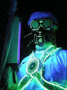 Techno Shaman - 2011  Follow me on Instagram:  @progenitor_tech  Etsy store: ProgenitorTech   Email: Progenitortech@gmail.com  #burningman #technoshaman #lights #shaman #led #cyber #cybertech #scifi #costume #cosplay #staff #orb #blacklight #glow #glowintgedark #blacklight #fluorescent #uv #uvreactive #primitive #spiral #progenitortech #progenitor #respirator #goggles
